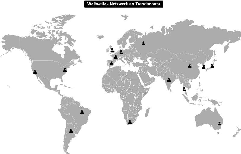 Weltweites Netzwerk an Trendscouts