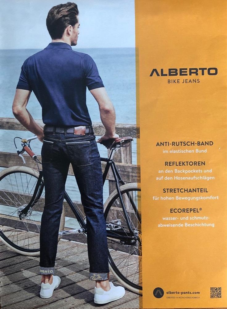 Beispiel für eine Nischenstrategie Alberto Bike Jeans