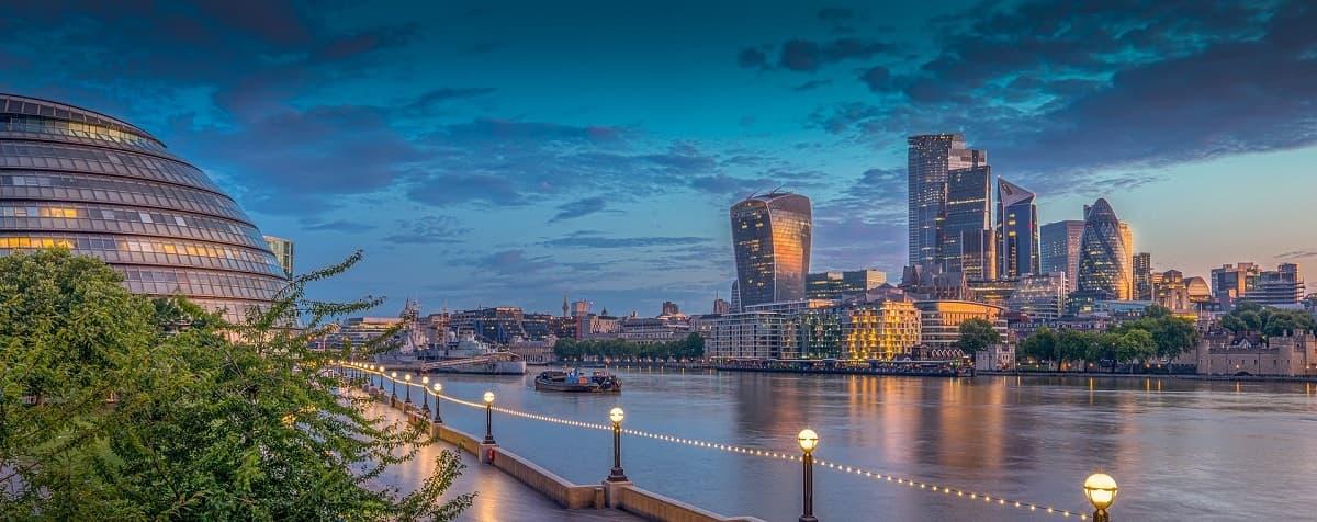 Skyline London Großbritannien Marktanalyse