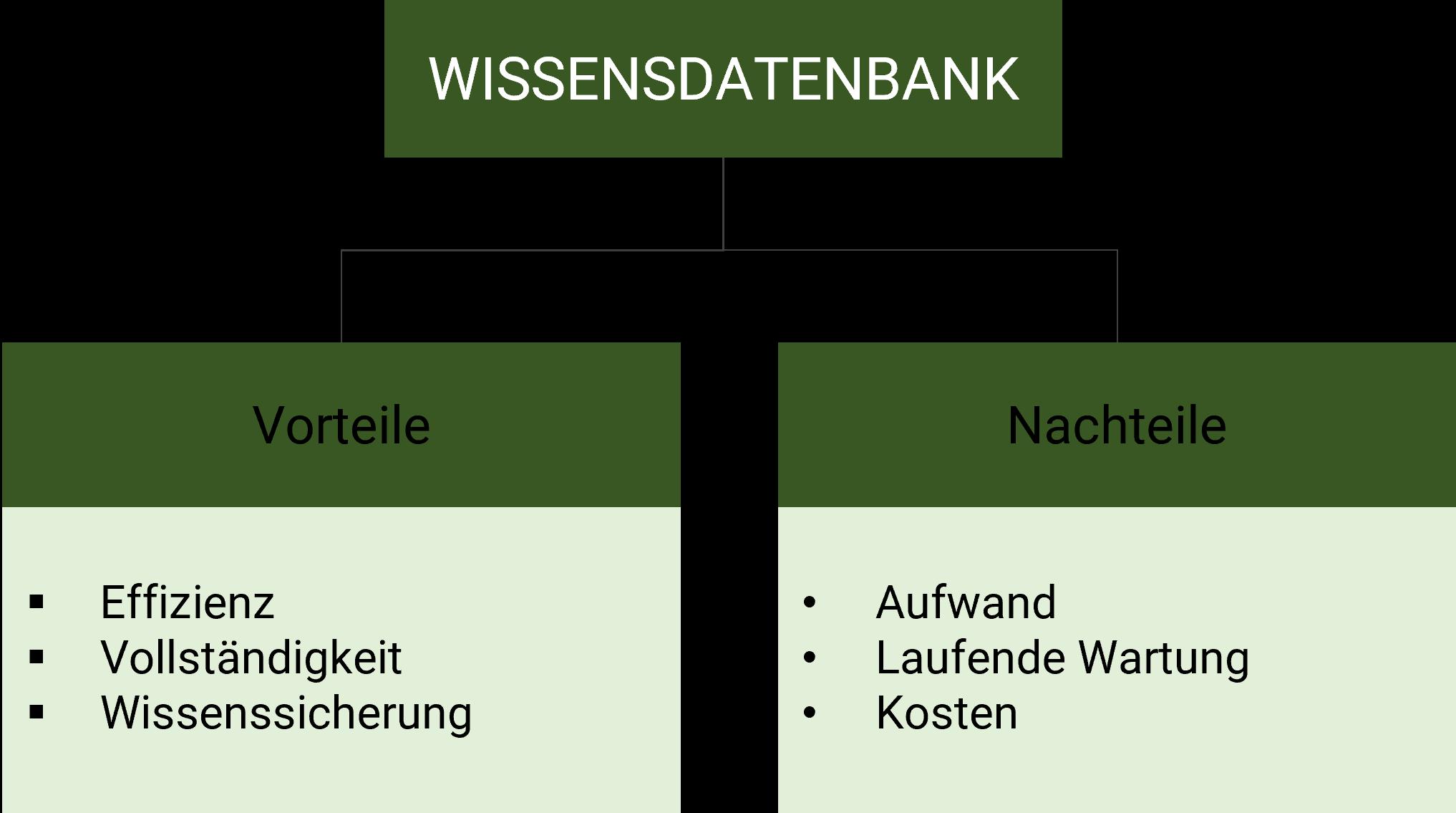 Wissensdatenbank Vor- und Nachteile